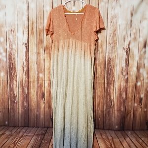 Free People Knit Open Maxi Ombre Dress